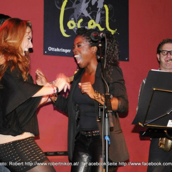 Fun on stage with Marjorie